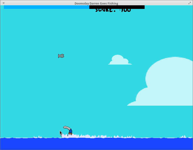 A screenshot of Doomsday Darren Goes Fishing