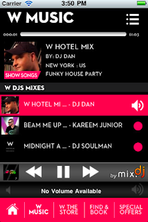 w hotel app music