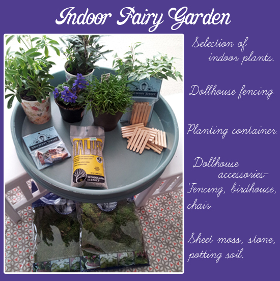 Create your own indoor fairy garden!  Everyday Magic blog.