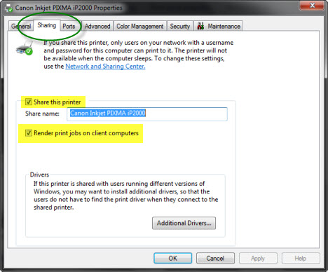 how to add shared printer in windows 7