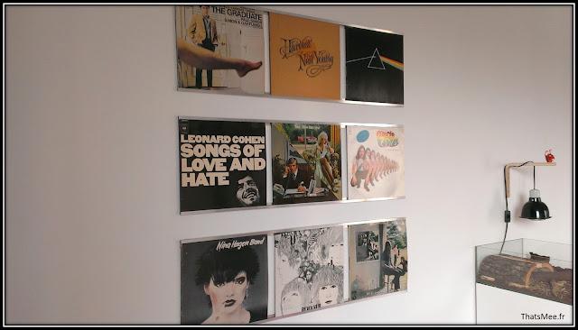 déco style loft 40m² meuble métier tiroir table Etsy 70s fauteuil club brocante, music wall vinyls 70s