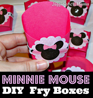 Minnie mouse diy fry boxes juggling act mama for Party wall act template