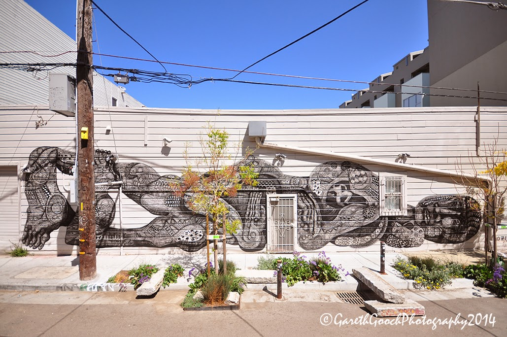 Zio Ziegler recently finished working on this sweet new piece in the Hayes Valley district of San Francisco.