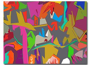 abstract, graffiti, art, wall art, contemporary, modern, multi coloured, canvas art, large landscape,