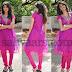 Akhila in Pink Net Churidar