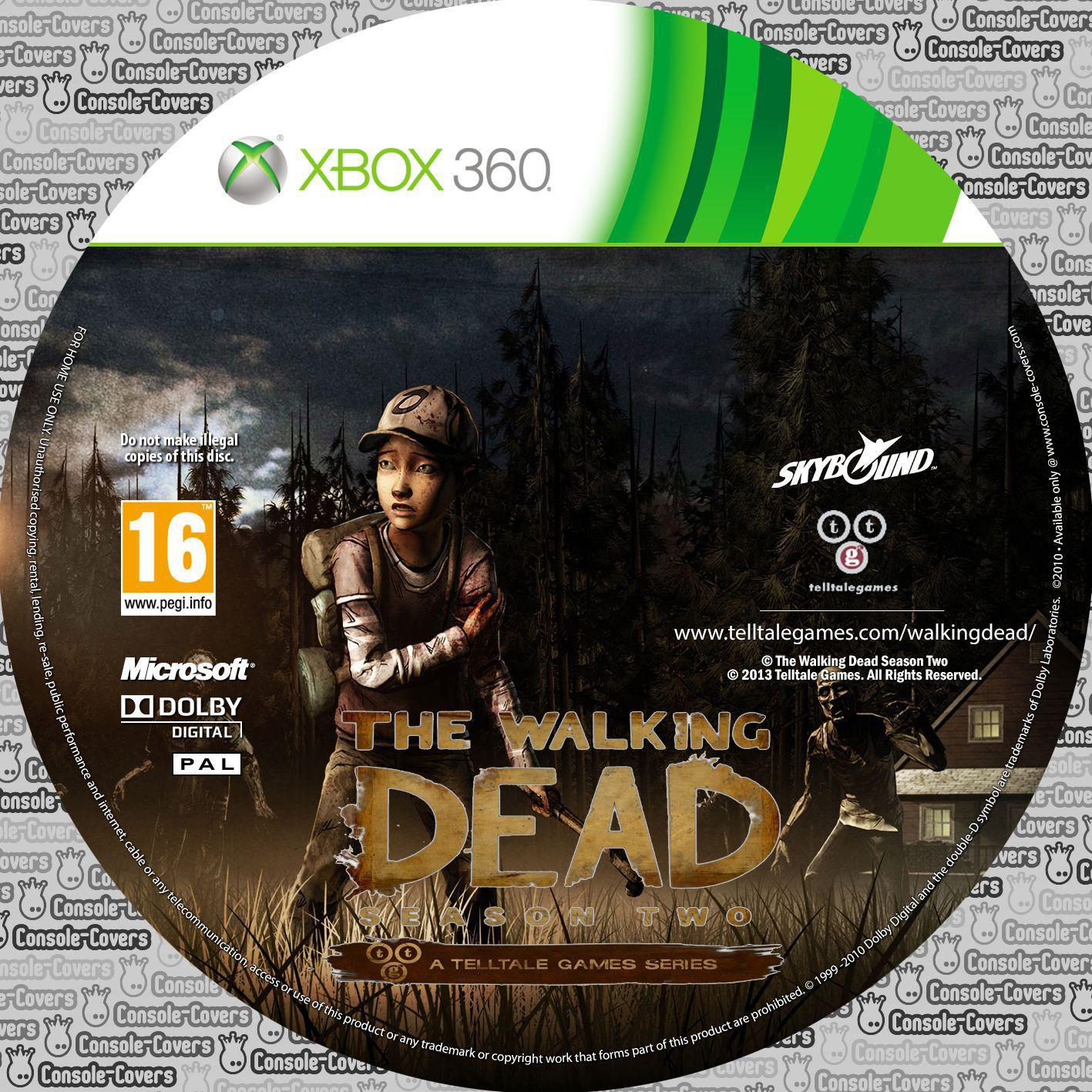 Label The Walking Dead Season Two Xbox 360