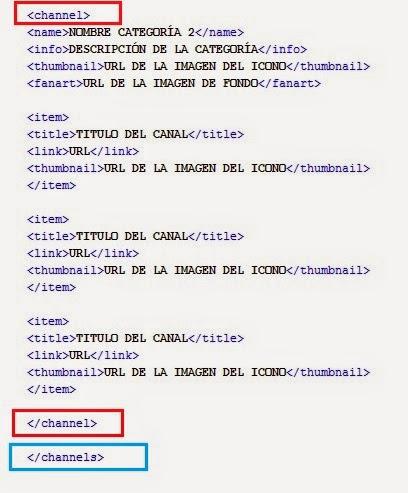 Muestra lista XML de LIVESTREAMS en XBMC