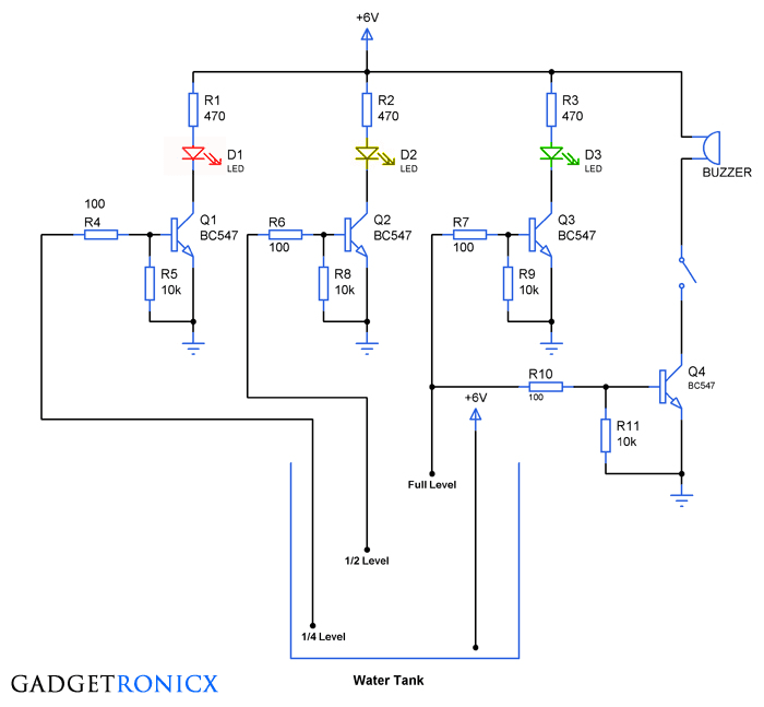 tank-water-level-indicator-with-alarm-circuit-diagram-transistors
