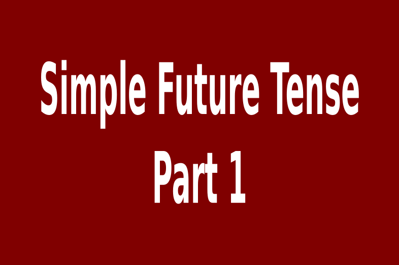 pola kalimat simple future tense subject will shall verb