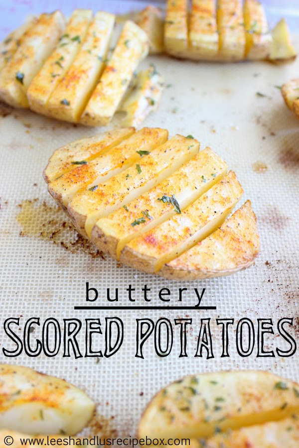 Buttery Scored Potatoes