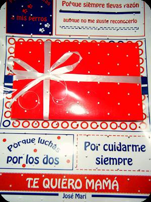 Tarjeta de presentación con chocolatinas