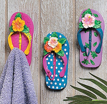 9 fun flip flop decorations and crafts for your home for Flip flops for crafts