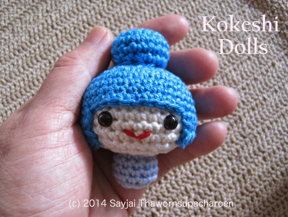 Crochet Pattern For Yoda Doll : Amigurumi Kokeshi Dolls - Sayjai Amigurumi Crochet ...
