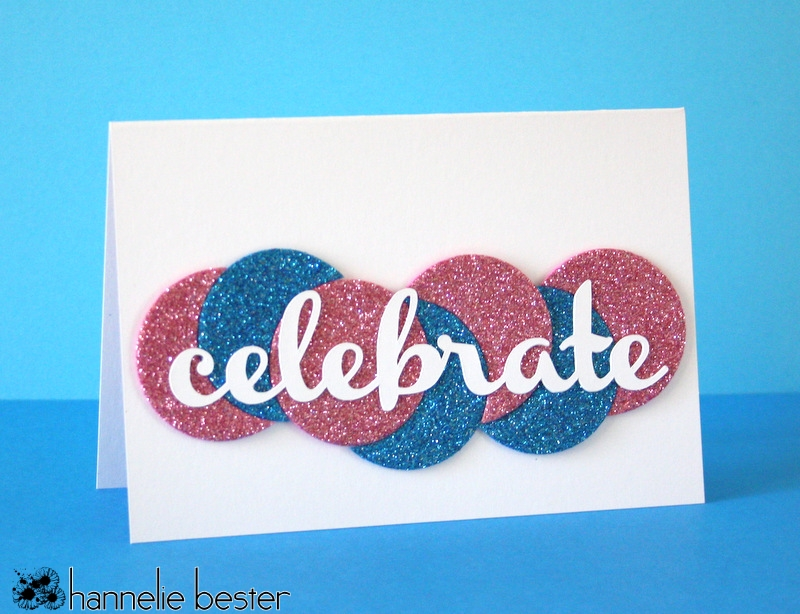celebrate with sparkly circles card