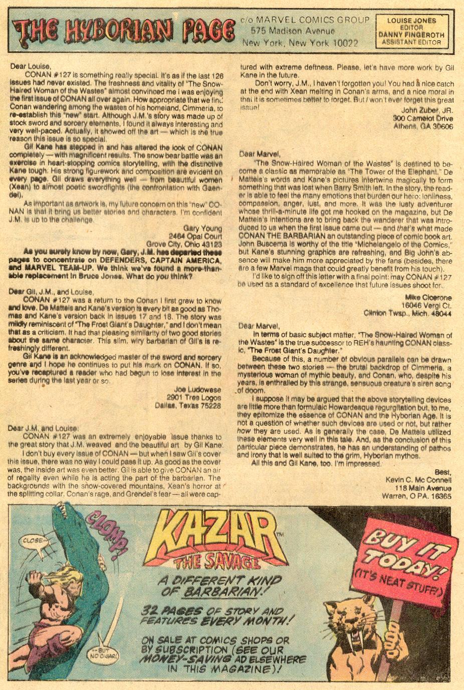 Conan the Barbarian (1970) Issue #131 #143 - English 25