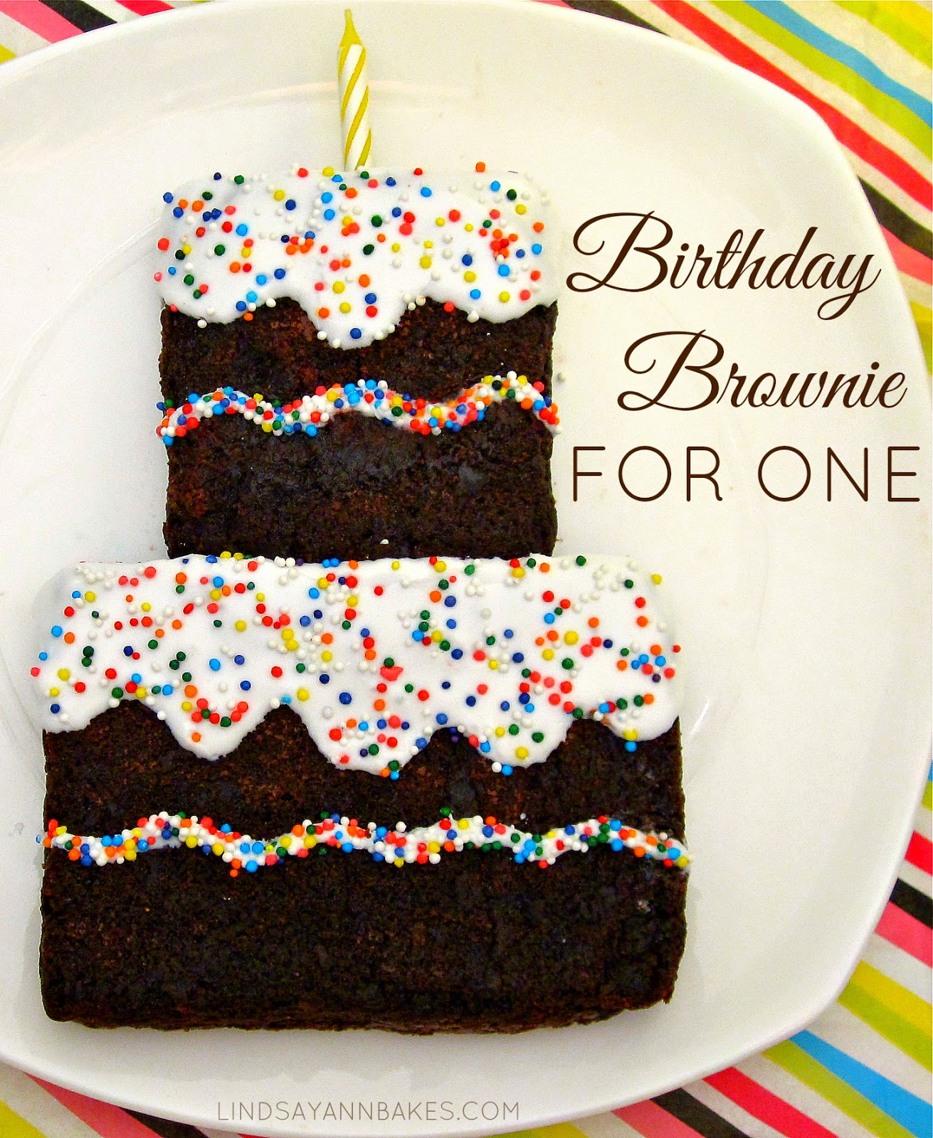 Single Serving Birthday Brownie For One Lindsay Ann Bakes