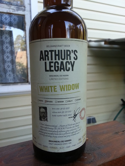бутылка бельгийского пива Arthur's Legacy White Widow