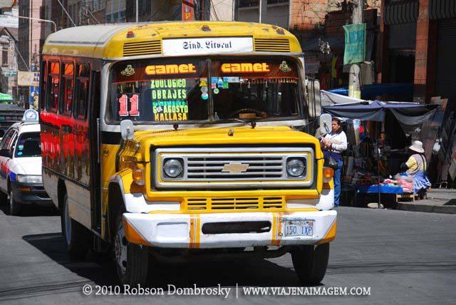 ônibus de la paz na bolívia