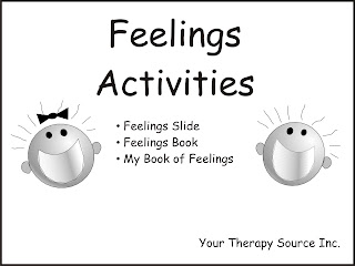 Feelings Activities from http://yourtherapysource.com/feelings.html