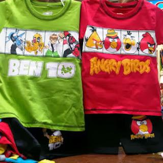 busana, kartun, angry birds, ben 10