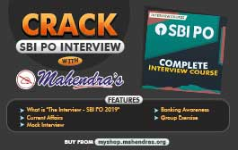 CRACK SBI PO INTERVIEW WITH MAHENDRAS