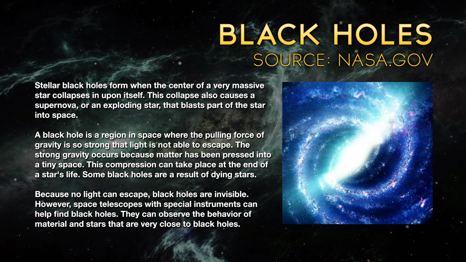 Black Hole Research Paper