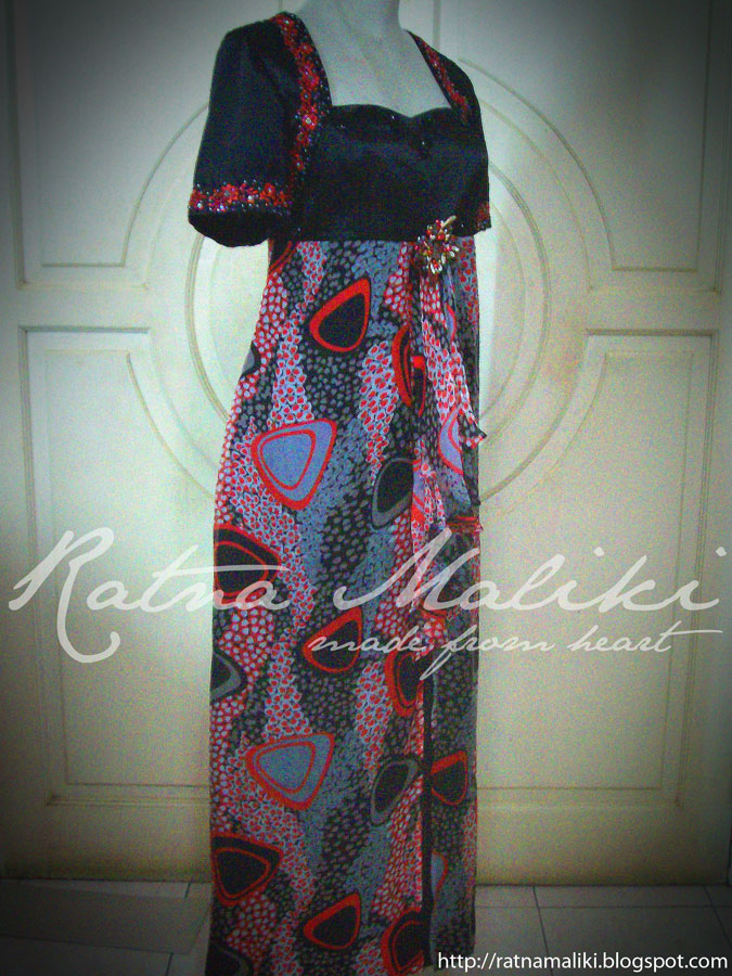 Model Gaun Pesta Batik Blue Navy Elegant Holidays Oo