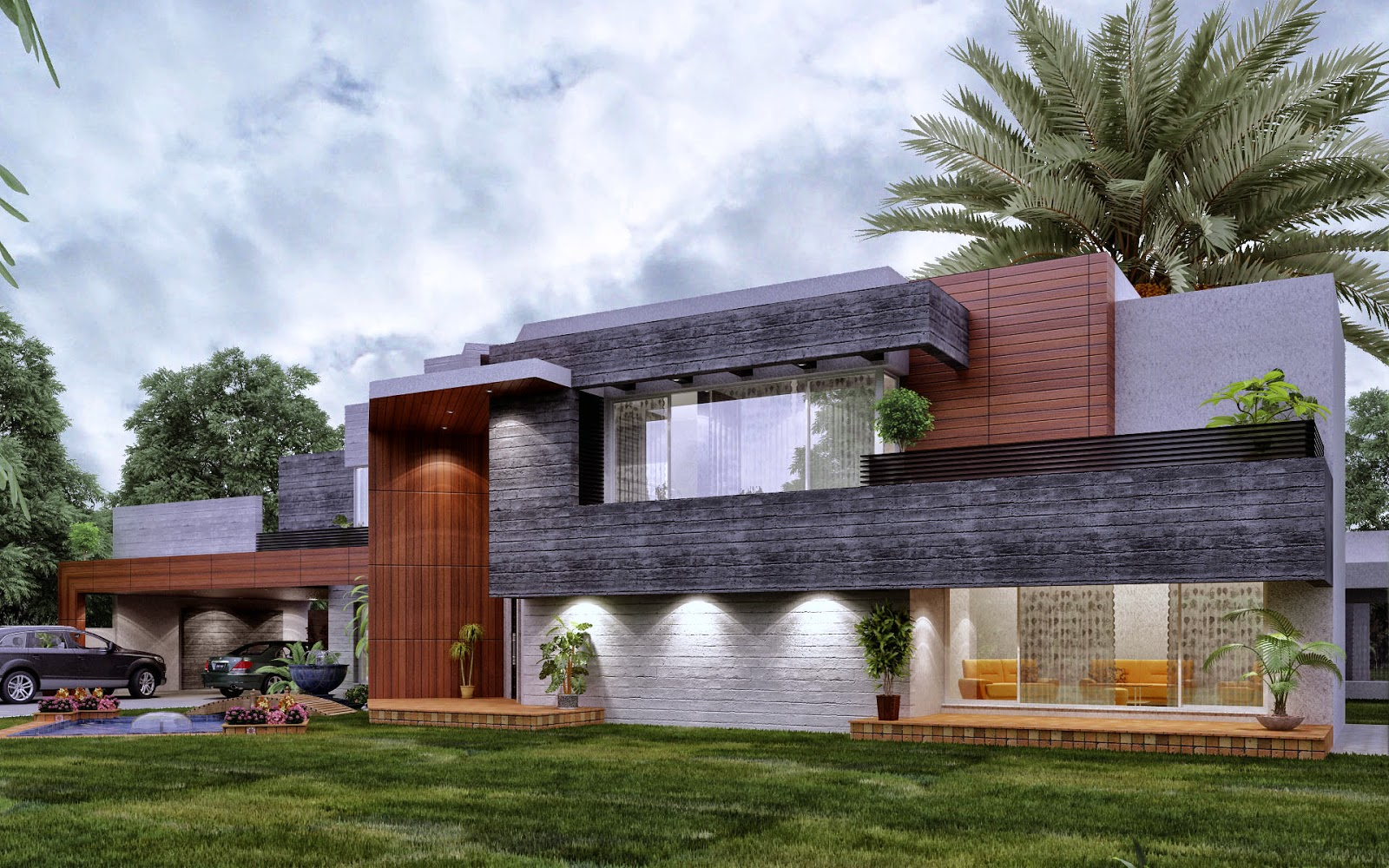 Contemporary farm house 3d front design blog for Farm house
