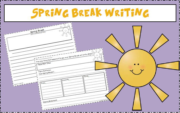 Freebie! Spring Break Writing