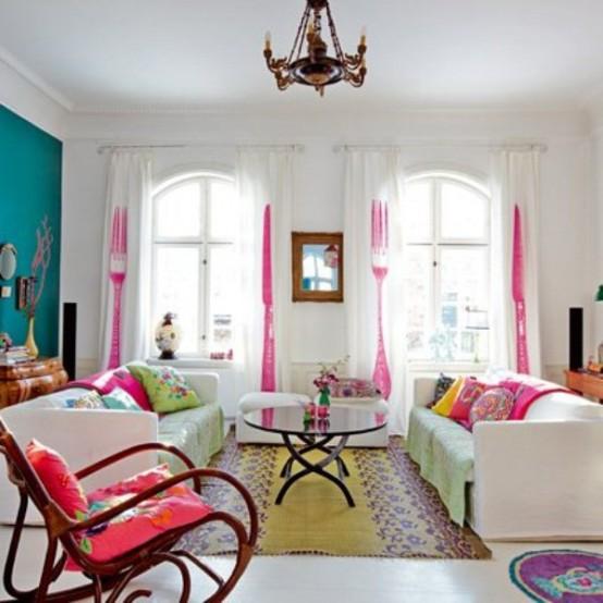 light house with bright furniture and accents 8 554x554 ไอเดียการตกแต่งบ้านหวานๆจากเดนมาร์ก