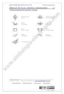 Símbolos de pilas, baterías, generadores eléctricos... 2/2