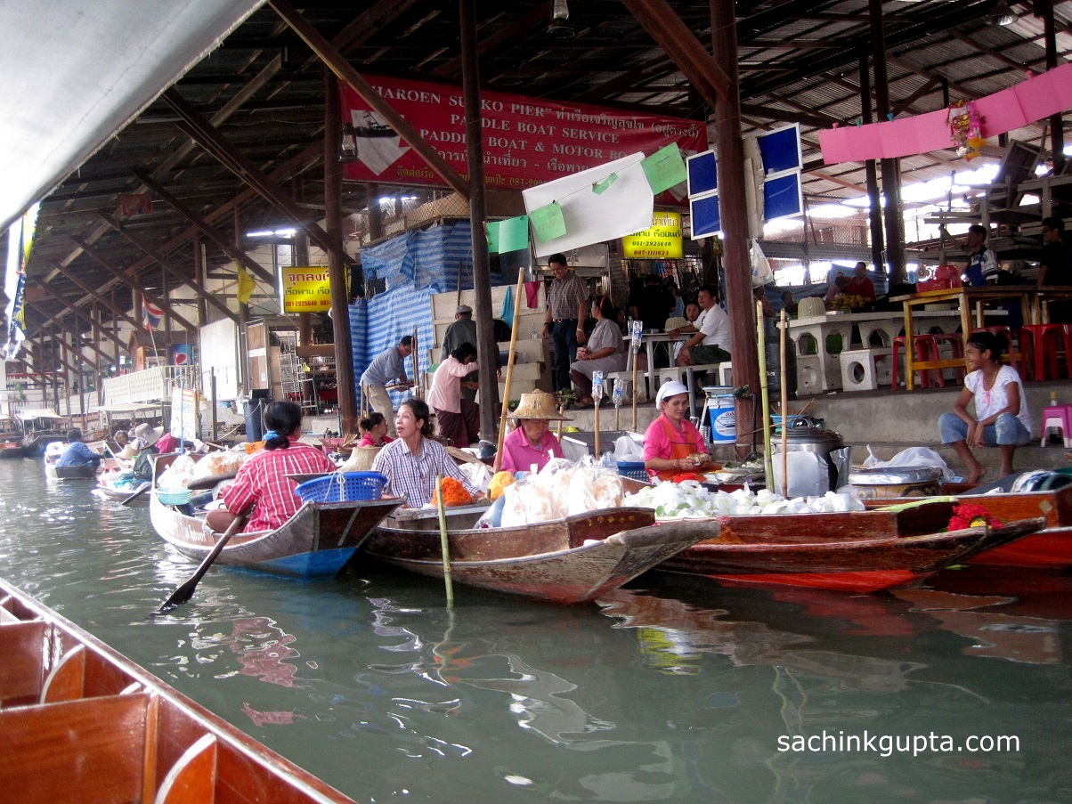 Damnoen Saduak Floating Market and Elephant Village ~ LENS ...