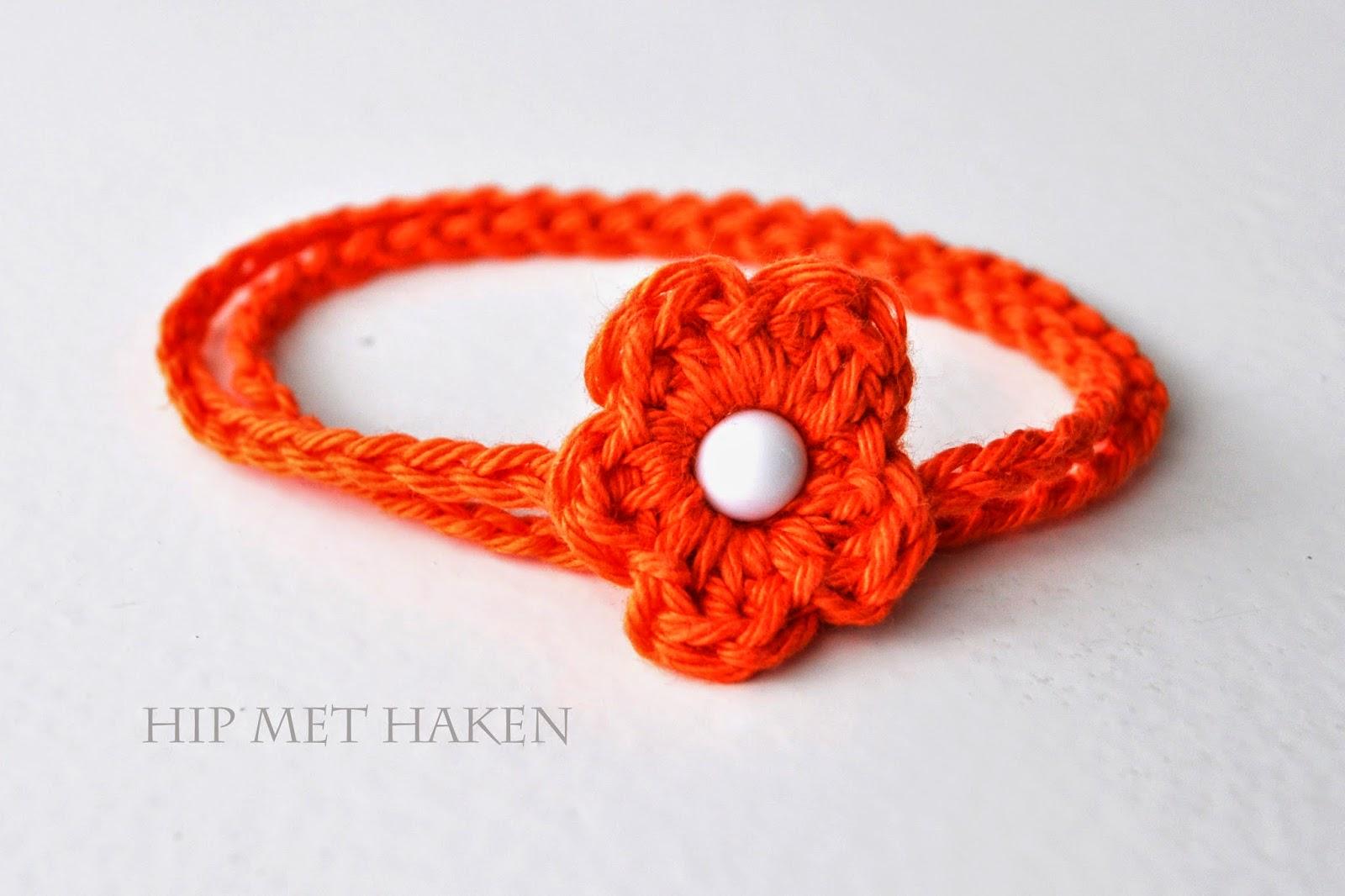 Hip Met Haken Flower Power Haarband Koningsdag Flower Power