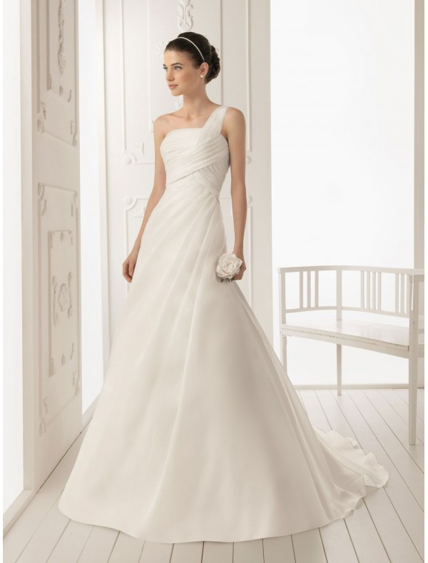 RainingBlossoms Stylish And Beautiful One Shoulder Wedding Dresses