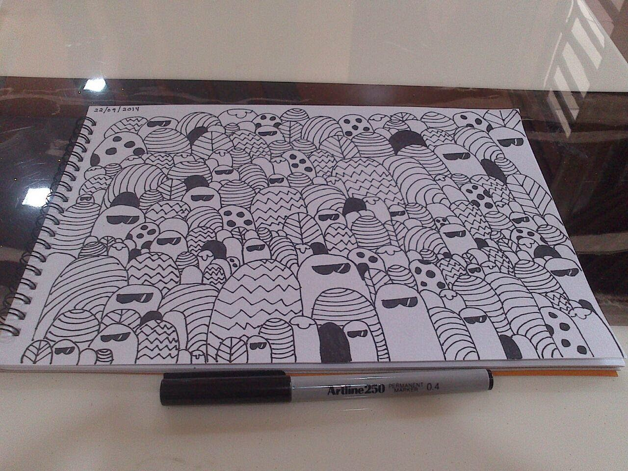 belajar buat doodle