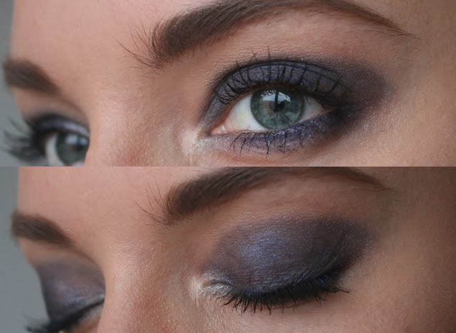 макияж смоуки айз для голубых глаз