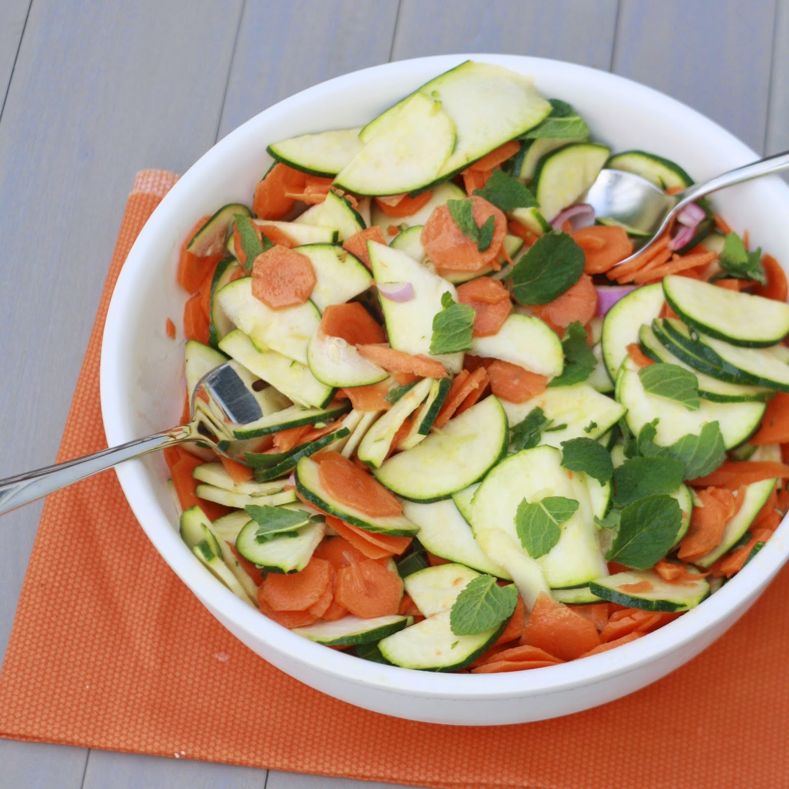 Shaved Carrot Zucchini Salad | The Sweets Life
