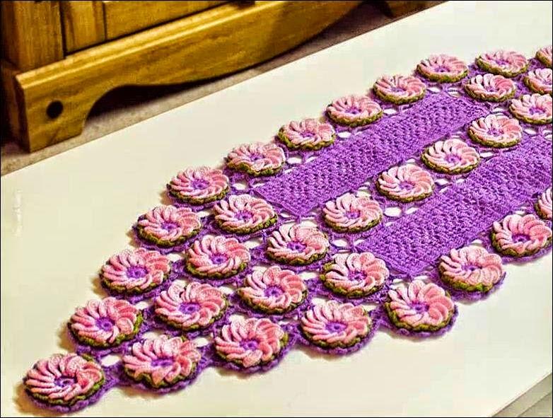Centro de mesa artístico al crochet