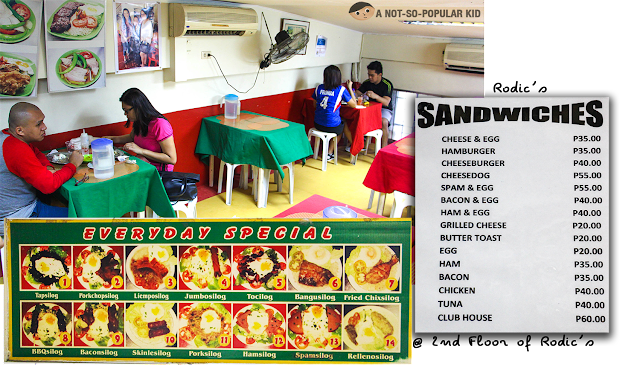 Rodic's Everyday Special and Sandwiches Menu and Prices