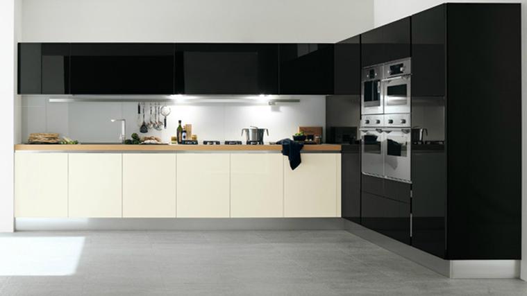 Cocinas angulares para espacios m s grandes cocinas con for Muebles para cocina en l