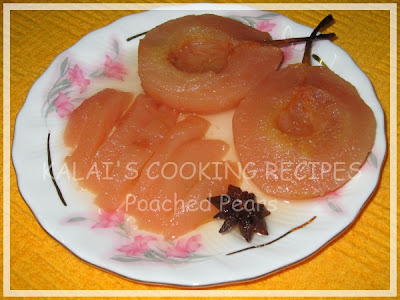 Poached Pears with Indian Spices