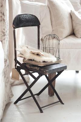 silla hierro y cuero