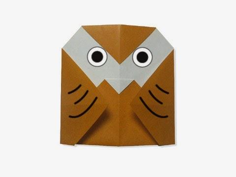 Hướng dẫn cách gấp con chim cú mèo bằng giấy đơn giản - Xếp hình Origami với Video clip - How to make a Owl