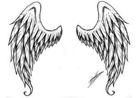 Angel Wings Tattoo Designs Drawings