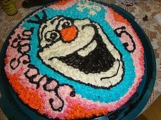 Olaf pastel o torta decoración