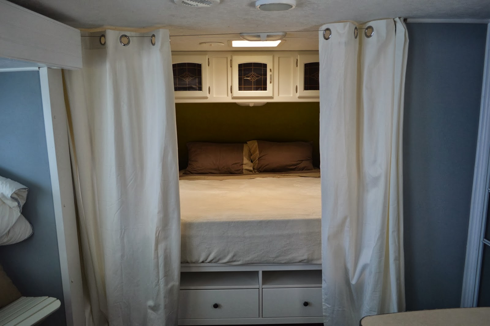 Traveling triads travel trailer remodel reveal for 2 bathroom travel trailer
