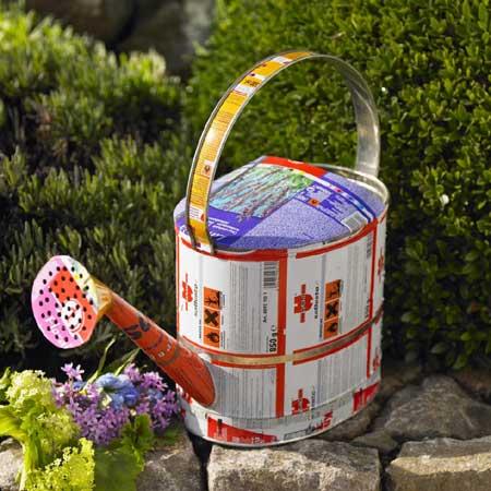Causa verde accesorios para el jardin con latas recicladas for Accesorios jardin