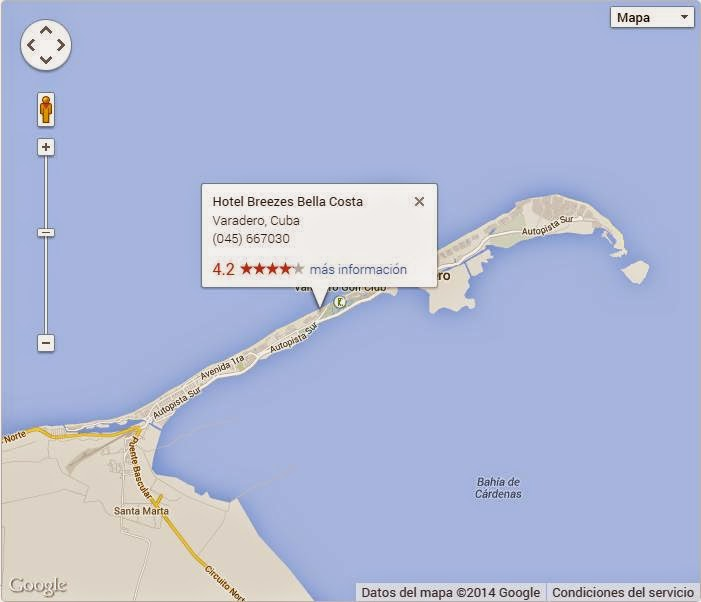 El Hotel Breezes Bella Costa está en el Km 3 y medio en el corazón de la península de Hicacos