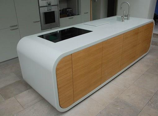 construindo minha casa clean cozinhas com bancada branca. Black Bedroom Furniture Sets. Home Design Ideas