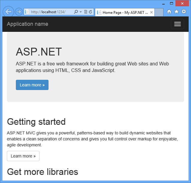 ASP.NET MVC 5 Application Run on localhost